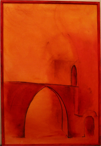 Dagstemperatur - 2004, oil on canvas, 56 x 80 cm.