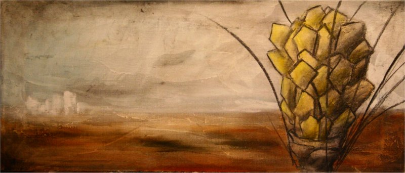 Field - 2006, oil on canvas, 70 x 30 cm.