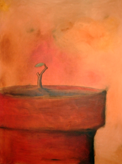Hopp - 2003, oil on canvas, 80 x 100 cm.