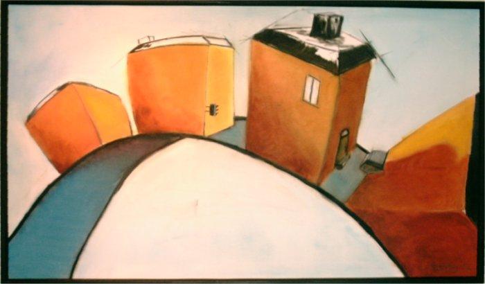 Husband - 2003. oil on canvas, 100 x 57 cm.
