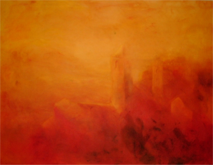 Ljuslängd - 2003, oil on canvas, 130 x 100 cm. Sold.