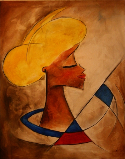 Malou - 2005, oil on canvas, 80 x 100 cm. Private collection.