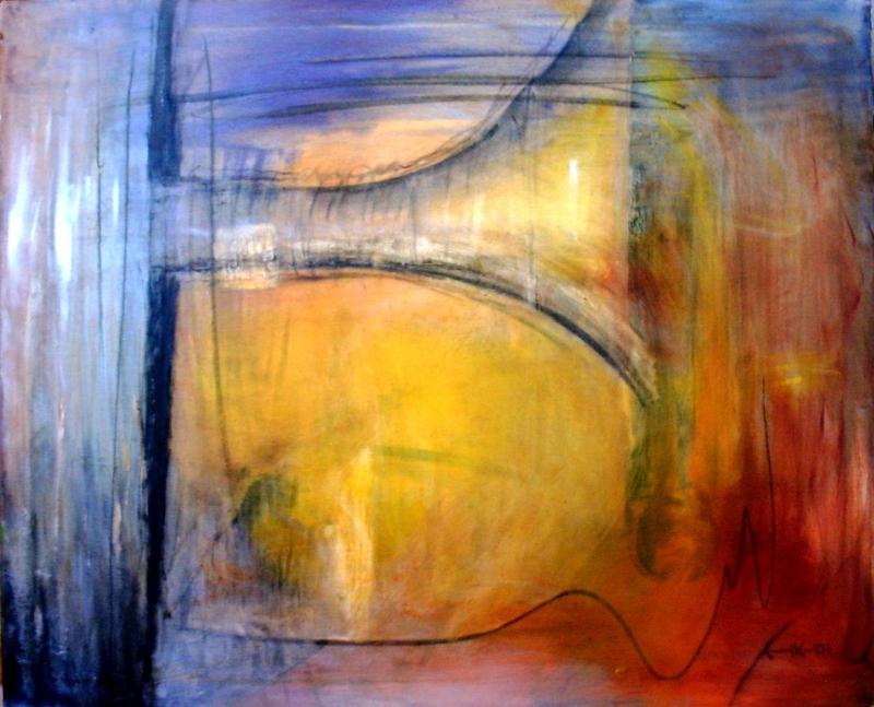 Maskin i olag - 2001, oil on canvas, 100 x 80 cm. Sold.