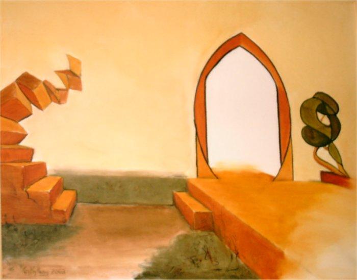 Portal - 2003, oil on canvas, 80 x 100 cm.