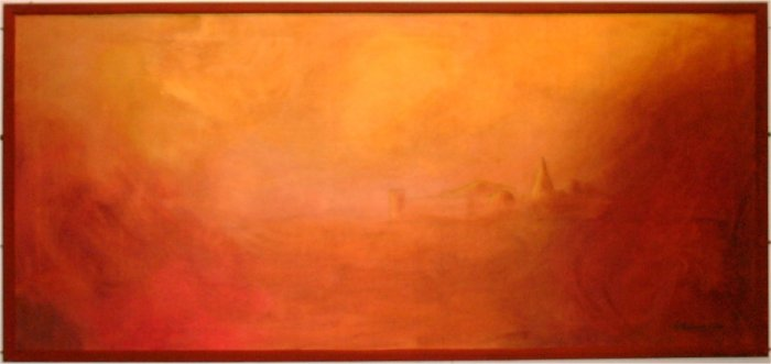 Sienna - 2003, oil on canvas, 100 x 46 cm.