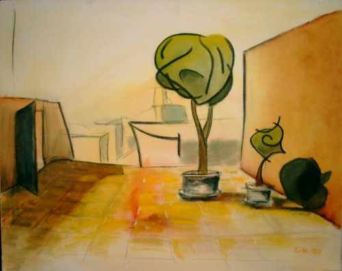 Siesta - 2002, oil on canvas, 100 x 80 cm.