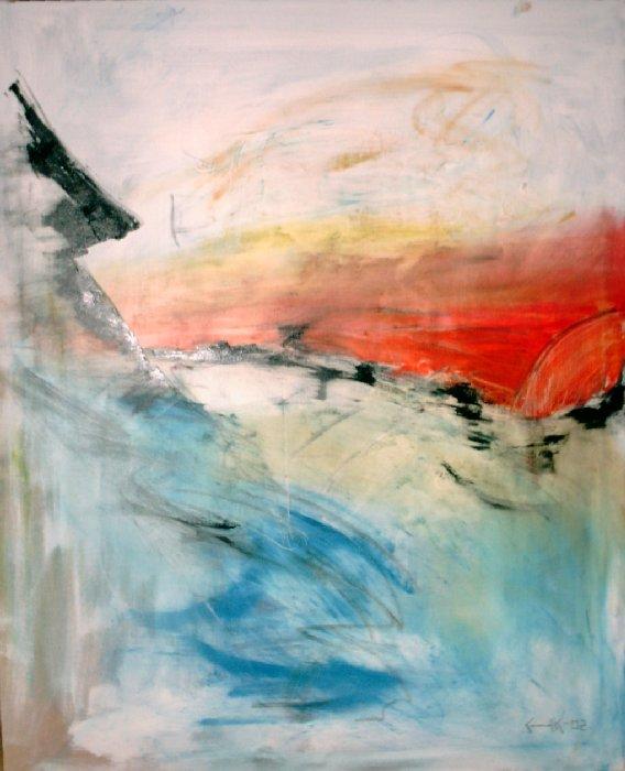 Solen är för långt bort - 2002, oil on canvas, 80 x 100 cm. Sold.