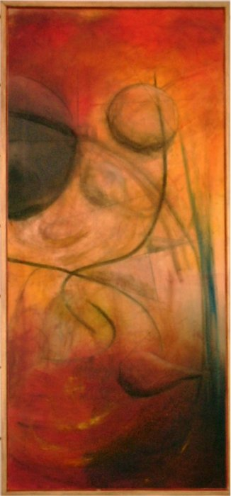 Tangent - 2003, oil on canvas, 100 x 46 cm. Sold.