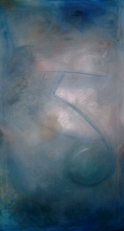 The Blue Note - 2004, oil on canvas, 56 x 100 cm.
