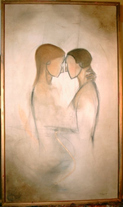 Two - 2004, oil on canvas, 46 x 80 cm. Painted on request.