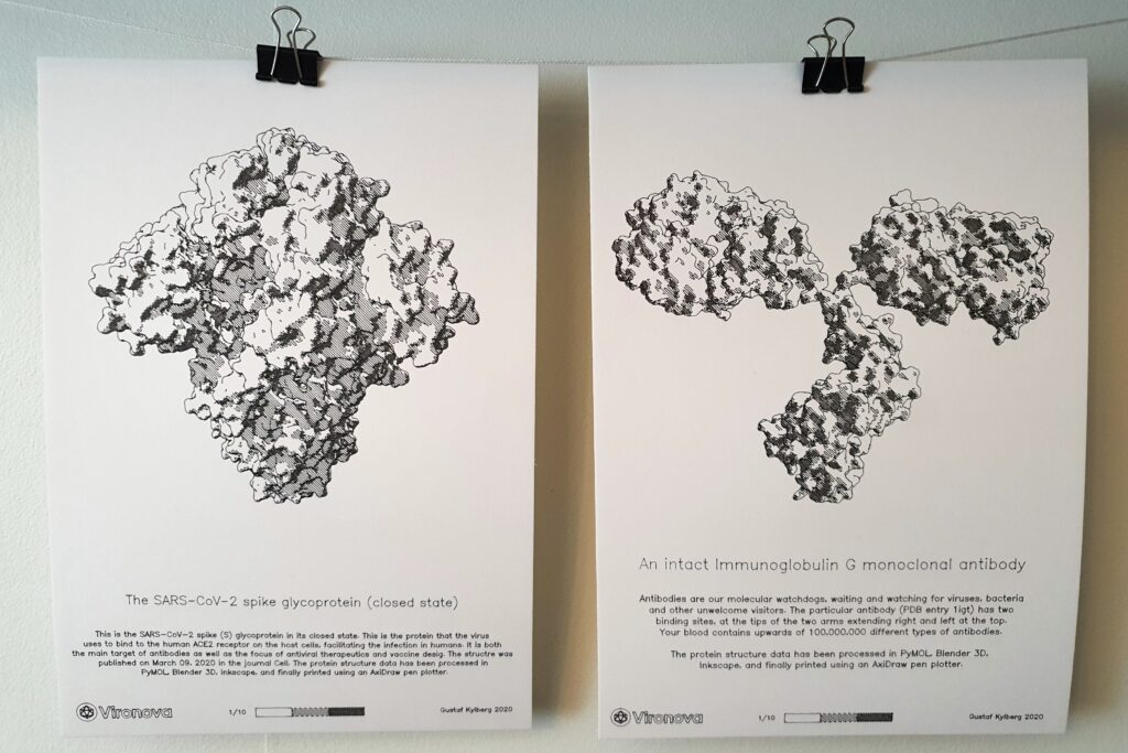Prints of protein structures